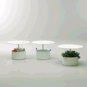 Uispair Modern 100% Steel Round Office Home Living Dining Room Bedroom Coffee Table