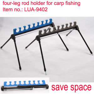 4-Leg Aluminum Rod Holder for Carp Fishing
