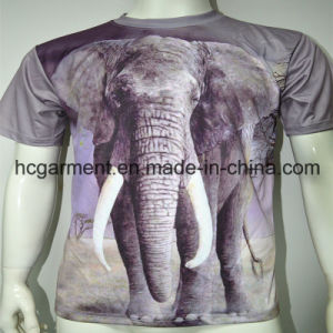 3D Sublimation Round Neck Printed T- Shirt for Man pictures & photos