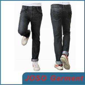 Men Black Causal Demin Pants (JC3026) pictures & photos