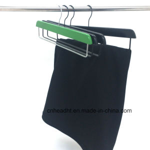 Colored Mixed Pants /Slacks Wooden Clothes Hanger pictures & photos