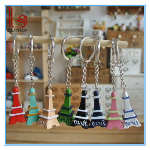 Wholesale Customized Zakka Grocery Gift Resin Home Decoration Eiffel Tower Key Chain pictures & photos