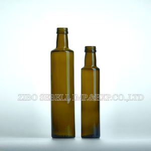 250ml Dark Green Dorica Glass Olive Oil Bottle pictures & photos