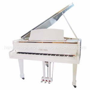 White Polish Grand Piano (HG-152W)