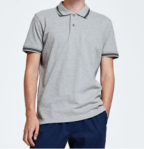 Custom Cotton Fashion Design Men′s Summer Polo T Shirt