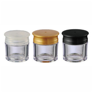 Transparent Plastic Cosmetic Jar with Screw Cap (NJ87) pictures & photos