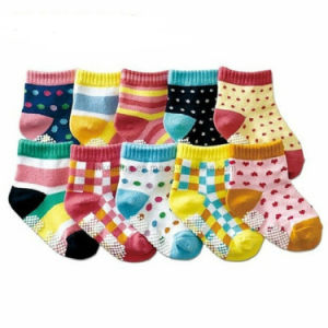 Fancy Baby Cotton Socks with Anti-Slip Dots Bs-50