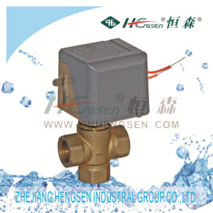 D F-02 Zone Valve/3 Way Motorized Valve/3 Port Motorised Valve/Spring Return Valve Used in Air Conditioning System, Heating&Cooling System D N15, D N20, D N25 pictures & photos