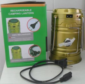 LEDs Rechargeable Camping Light Collapsible Solar Camping Lantern Tent Lights for Outdoor Camping Hiking