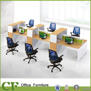 Melamine Finish Modular Office Desk for 6 Person pictures & photos