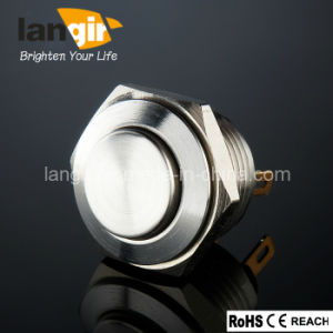 16mm High Flat Head Waterproof Stainless Steel Push Button Switch pictures & photos