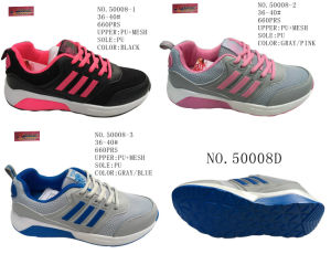 No. 50008 Lday Casual Stock Shoes PU Outsole pictures & photos