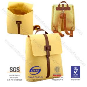 Wholesale Yellow Felt Shoulder Bag, Felt School Bag Felt Backpack pictures & photos