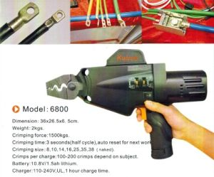 Power Cable Crimping Tool for Size 8-38mm2