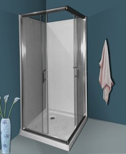 Bathroom Square Simple Shower Room with Backboard (A03003) pictures & photos