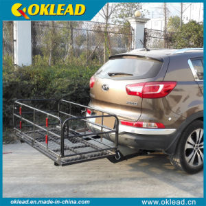 Folding Rear Basket Hitch Mount Cargo Carrier (RS02)
