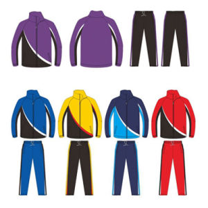 Red Blue Yellow Black Tracksuit Sports Suit Sportswear for Warm up pictures & photos