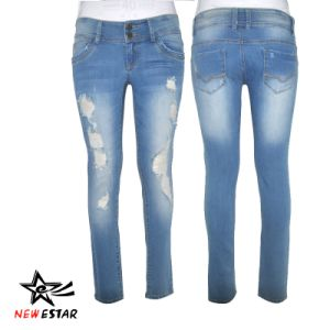 Women Jeans, Lady′s Jeans, Denim Jeans