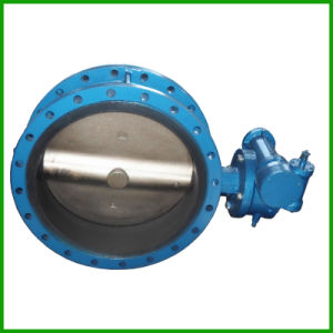 Rubber Seal Double Flanged Butterfly Valve-Worm Gear Butterfly Valve pictures & photos