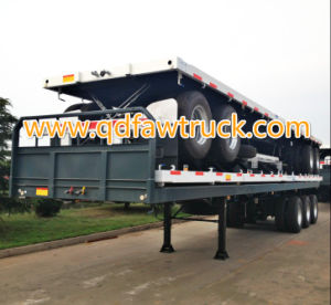 Platform semi trailer factory 3 Axles Container Trailer For Sale pictures & photos
