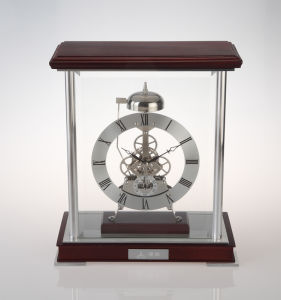 Chime Table Clock with Wooden Base K3024n Skeleton Clock Kit Business Souvenir Giveaways pictures & photos
