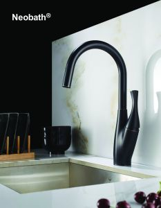 Black Gooseneck Lead Free Pull out Sink Kitchen Faucet