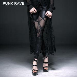 Wholesale Punk Women Elegant Mesh Lace Fake Boot Legging (K-186) pictures & photos