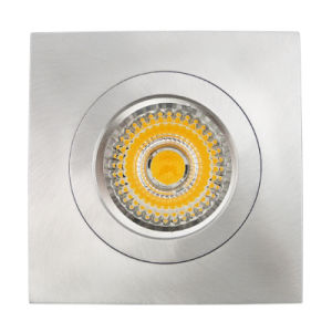 Lathe Aluminum GU10 MR16 Square Fixed Recessed LED Ceiling Light (LT2117) pictures & photos