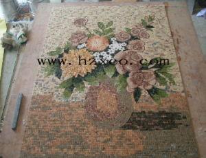 Mosaic, Marble Mosaic, Waterjet Pattern, Yellow Mosaic pictures & photos