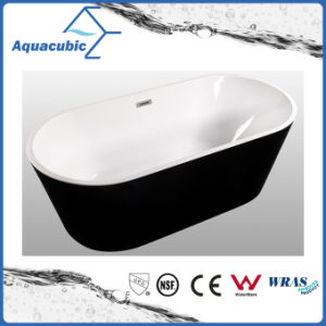Bathroom Black Color Pure Acrylic Seamless Freestanding Bathtub (AB6700B) pictures & photos