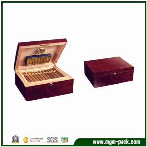 Wooden Cigar Box with Double-Deck Design pictures & photos