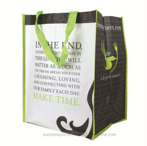 Wholesale Cheap Recylced Laminated PP Woven Shopping Bags with Logo pictures & photos