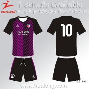 Healong Any Logo Sublimation Customized Uniform Soccer Kit pictures & photos
