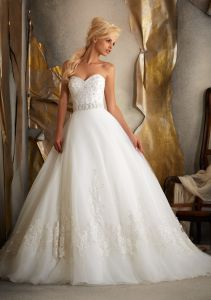 2014 Organza Beading Bridal Dress (Ogt14003W)