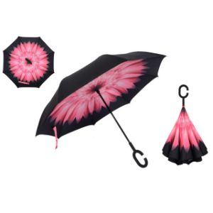 High-Quality C-Type Reverse Waterproof Umbrella Hands-Free Windproof Sun Umbrella for Car pictures & photos