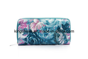 Fashion Flower PU Wallet / Fashion Wallets (KCW22) pictures & photos