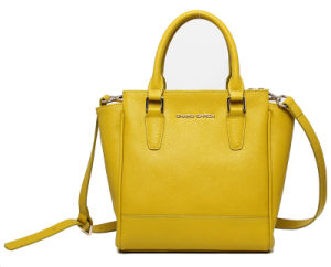 New Arrival Fashion Women Yellow Color PU Tote Handbag (8892) pictures & photos