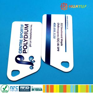 HUAYUAN Loyalty Membership System Ntag213 NFC PVC RFID Smart Keytag Card pictures & photos