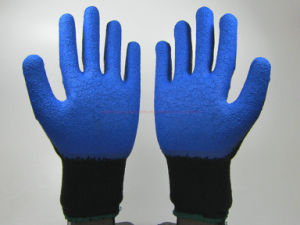 Crinkle Latex Coated Industiral Labor Protective Safety Work Gloves (LS004) pictures & photos