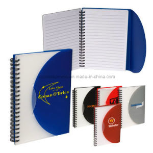 Promotional Advertising Customized PP Cover Spiral Notebook Wholesale pictures & photos