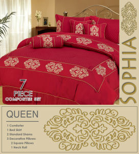 Embroidery 7PCS Comforter Set, Luxury Bedding Sets