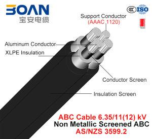 Hv ABC Cable, Aerial Bundled Cable, Al/XLPE+AAAC, 3/C+1/C, 6.35/11 Kv (AS/NZS 3599.2) pictures & photos