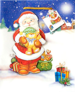 3D Christmas Gift Paper Bag (CS-014)