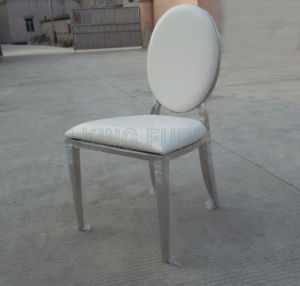 Hot Sale Classic Luxurious Stainless Steel Foot PU Leather Dining Chair (NK-DC022) pictures & photos