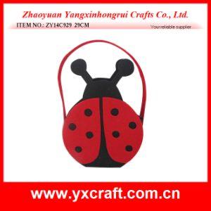 Easter Decoration (ZY14C929 29CM) Easter Craft Beetle Easter Felt Basket pictures & photos