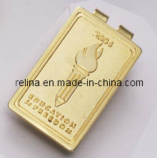 Customized Gold Money Clips/Hat Clips with Ball Marker
