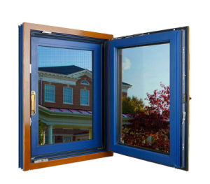 Hot Sale Wood Composite Aluminum Windows, Combined with Fly Screen Together