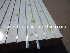 Grooved Melamine Faced MDF for Furniture or Decoration pictures & photos