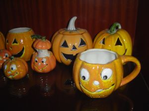 Ceramic Pumpkin Mug for Holloween pictures & photos