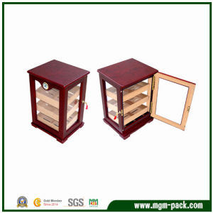 Excellent Quality Wooden Cigar Cabinet with Transparent Door pictures & photos